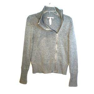 NEW!  Victoria Secret S/P asymmetric grey full zip